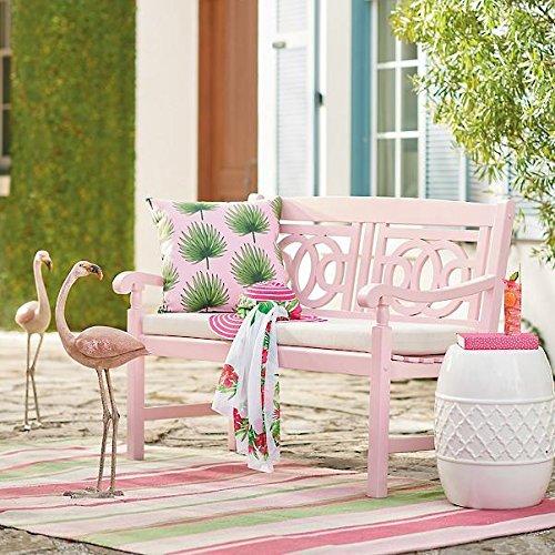 48-Pink-Blush-Hardwood-Outdoor-Garden-Bench-Patio-Deck-Porch-Furniture-0-0