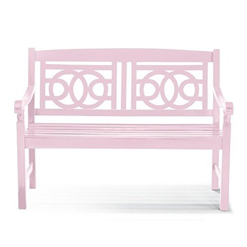48-Pink-Blush-Hardwood-Outdoor-Garden-Bench-Patio-Deck-Porch-Furniture-0