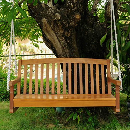 48-in-Hanging-Porch-Swing-All-Weather-Acacia-Hardwood-Water-Resistant-Dual-Stain-Outdoor-Finish-Features-UV-Light-Fading-Protection-Constructed-of-Weather-Resistant-Acacia-Hardwood-0-0