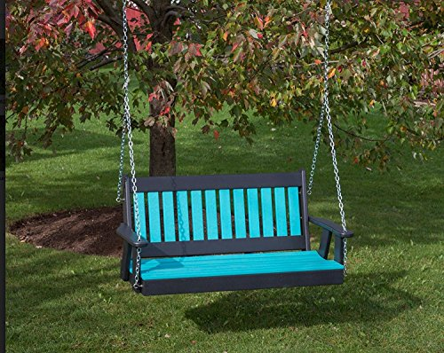 4FT-ARUBA-BLUE-POLY-LUMBER-Mission-Porch-Swing-Heavy-Duty-EVERLASTING-PolyTuf-HDPE-MADE-IN-USA-AMISH-CRAFTED-0