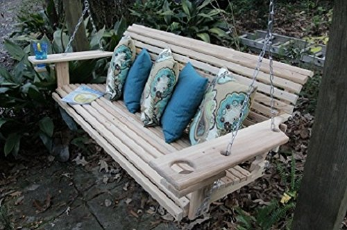 5-Foot-Handmade-Cypress-Porch-Swing-with-Cupholders-0
