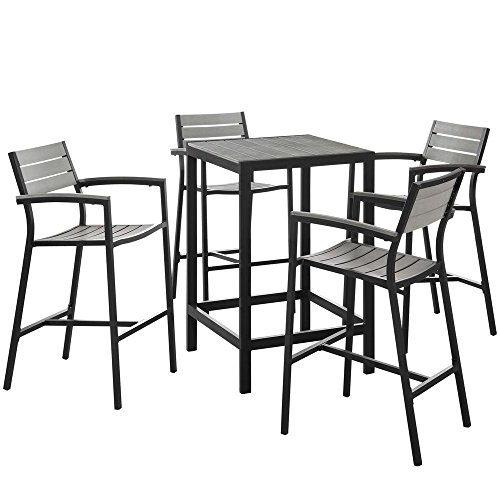5-PC-Outdoor-Patio-Bar-Set-Dimensions-675W-x-675D-x-425H-Weight-130-lbs-Brown-Gray-0