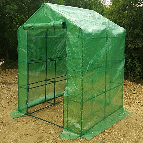 57-x-57-x-77-Portable-Mini-Walk-In-Outdoor-2-Tier-8-Shelves-Greenhouse-0-0