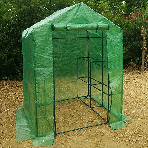57-x-57-x-77-Portable-Mini-Walk-In-Outdoor-2-Tier-8-Shelves-Greenhouse-0