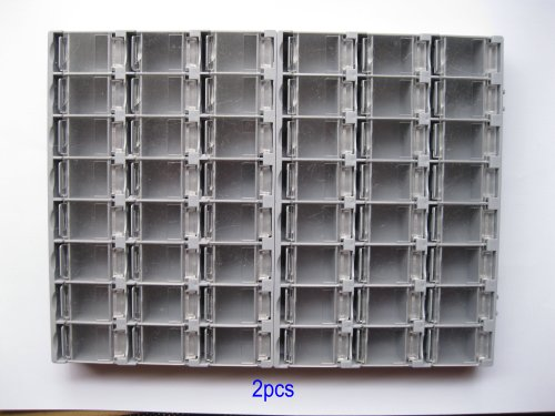 6-Pcs-SMD-SMT-Electronic-Component-Mini-Storage-Box-2438-LatticeBlocks-156x105x18mm-Gray-Color-T-156-Skywalking-0-1