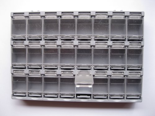 6-Pcs-SMD-SMT-Electronic-Component-Mini-Storage-Box-2438-LatticeBlocks-156x105x18mm-Gray-Color-T-156-Skywalking-0