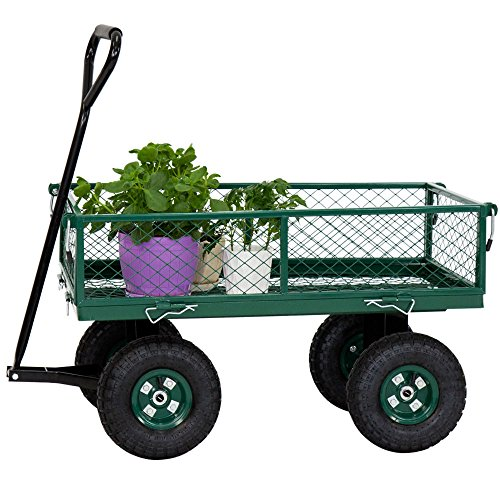 650LBS-Garden-Utility-Wagon-Wheelbarrow-Yard-Lawn-Heavy-Duty-wRemovable-Sides-0-2