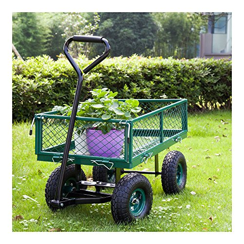 650LBS-Garden-Utility-Wagon-Wheelbarrow-Yard-Lawn-Heavy-Duty-wRemovable-Sides-0