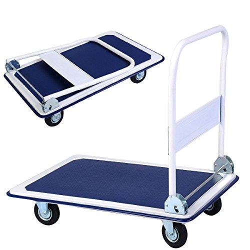 660lbs-Platform-Cart-Dolly-Folding-Foldable-Moving-Warehouse-Push-Hand-Truck-New-0
