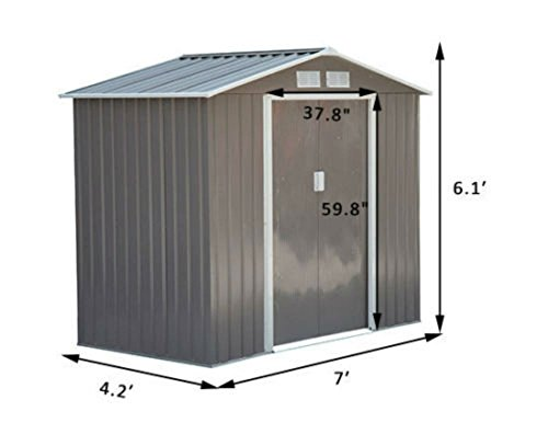 7×4-Steel-Outdoor-Garden-Storage-Shed-All-Weather-Tool-Utility-Backyard-Lawn-0-0