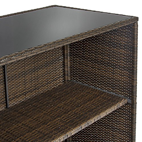 ALEKO-BTS3BR-Chestnut-3-Piece-Polyethylene-Wicker-Rattan-Outdoor-Patio-Deck-Furniture-Set-Bar-Top-Stools-Brown-0-2