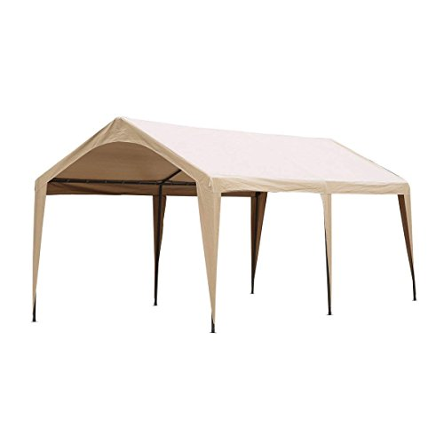Abba-Patio-10-x-20-Feet-Outdoor-Carport-Canopy-with-6-Steel-Legs-White-0