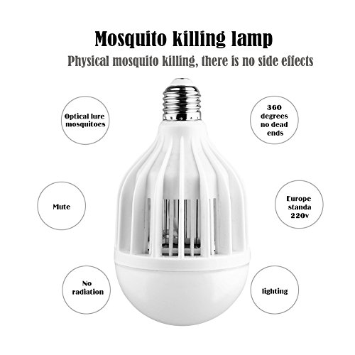 AcTopp-3-in-1-Bug-Zapper-2017-Upgraded-Bulb-85V-265V-Mosquito-Killer-Bug-Zapper-Light-Bulb-IndoorOutdoor-Lighting-Flying-Insects-Wasp-Moths-Bug-Killer-Removable-for-Easy-Cleaning-Brush-Included-0-2