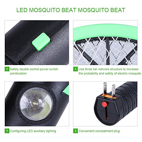 Acogedor-Bug-Zapper-Rechargeable-Electric-Fly-SwatterFly-KillerInsects-KillerMosquito-Zapper-against-FliesBugsBees-and-Other-Pest-0-2