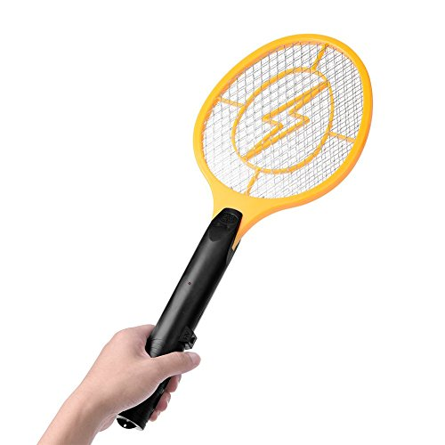 Acogedor-Electric-Fly-Swatter-Fly-KillerInsects-KillerBug-ZapperMosquito-Zapper-against-FliesBugsBees-and-Other-PestPowered-By-2-x-AA-batteries-0-0