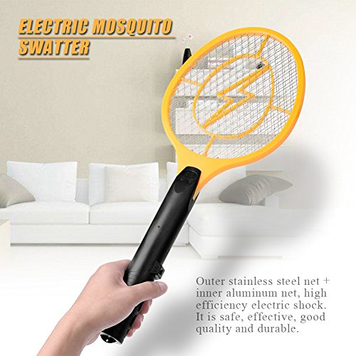 Acogedor-Electric-Fly-Swatter-Fly-KillerInsects-KillerBug-ZapperMosquito-Zapper-against-FliesBugsBees-and-Other-PestPowered-By-2-x-AA-batteries-0-1