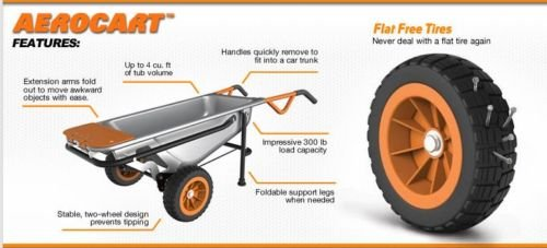 Aero-Cart-8-in-1-Multi-Function-Wheel-Barrow-Yard-Cart-0-2