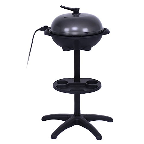 Almacn-1350W-Non-stick-4-Variable-Temperature-Setting-Indoor-Outdoor-Garden-Camping-Electric-BBQ-Grill-Griller-Without-Smoke-Patio-Deck-Backyard-Yard-Picnic-Barbecue-Cooking-Removable-Stand-0-0