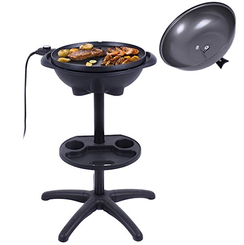 Almacn-1350W-Non-stick-4-Variable-Temperature-Setting-Indoor-Outdoor-Garden-Camping-Electric-BBQ-Grill-Griller-Without-Smoke-Patio-Deck-Backyard-Yard-Picnic-Barbecue-Cooking-Removable-Stand-0-1