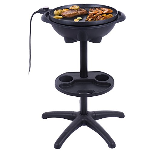Almacn-1350W-Non-stick-4-Variable-Temperature-Setting-Indoor-Outdoor-Garden-Camping-Electric-BBQ-Grill-Griller-Without-Smoke-Patio-Deck-Backyard-Yard-Picnic-Barbecue-Cooking-Removable-Stand-0-2