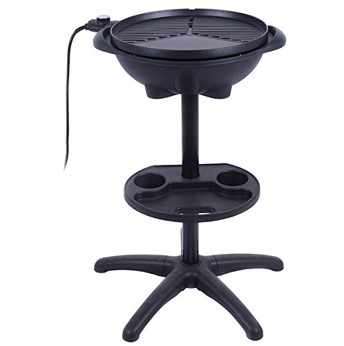 Almacn-1350W-Non-stick-4-Variable-Temperature-Setting-Indoor-Outdoor-Garden-Camping-Electric-BBQ-Grill-Griller-Without-Smoke-Patio-Deck-Backyard-Yard-Picnic-Barbecue-Cooking-Removable-Stand-0