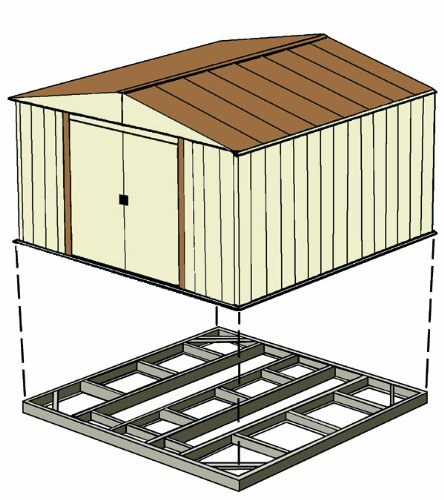 Arrow-FDN54-Storage-Shed-with-Floor-Base-Kit-for-5×4-Arrow-sheds-0-2