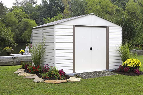 Arrow-Vinyl-Milford-High-Gable-Steel-Storage-Shed-Grey-BarkAlmond-10-x-12-ft-0-1