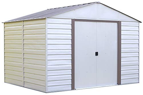 Arrow-Vinyl-Milford-High-Gable-Steel-Storage-Shed-Grey-BarkAlmond-10-x-12-ft-0