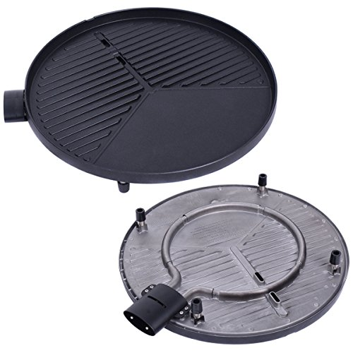AyaMastro-Non-Stick-Outdoor-Electric-BBQ-Grill-1350W-w360-Rotatable-Condiment-Tray-0-2