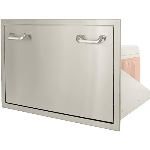 BBQGuyscom-Kingston-Series-30-inch-Stainless-Steel-Roll-out-Ice-Chest-Storage-Drawer-0-0