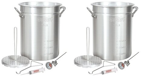 Bayou-Classic-3025-30-Quart-Aluminum-Turkey-Fryer-Pot-with-Accessories-2-Pack-0