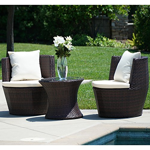 Belleze-3PC-Patio-Outdoor-Rattan-Patio-Set-Wicker-Backyard-Yard-Furniture-Outdoor-Set-Hour-Glass-Table-Round-Chairs-Brown-0