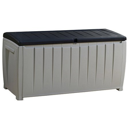 Best-Selling-Top-Rated-Plastic-Resin-Weather-Proof-90-Gallon-Outdoor-Storage-Container-Bin-Box-Perfect-For-Patio-Beach-Deck-Dock-Boating-Gear-Sturdy-Heavy-Duty-Beautiful-Black-Gray-Finsh-0