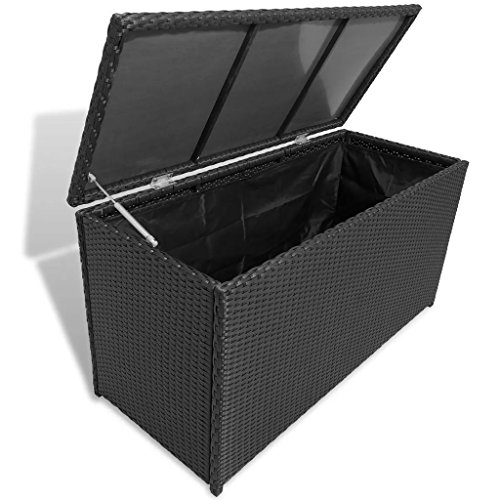 BestHomeFuniture-Patio-Outdoor-Poly-Rattan-Desk-Storage-Box-Patio-Porch-Cushion-Pillow-Storage-Black-0