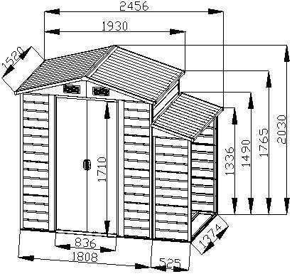 Bestmart-INC-8×5-Storage-Shed-Large-Backyard-Outdoor-Garden-Garage-Tool-Kit-Building-Warm-Gray-0-2