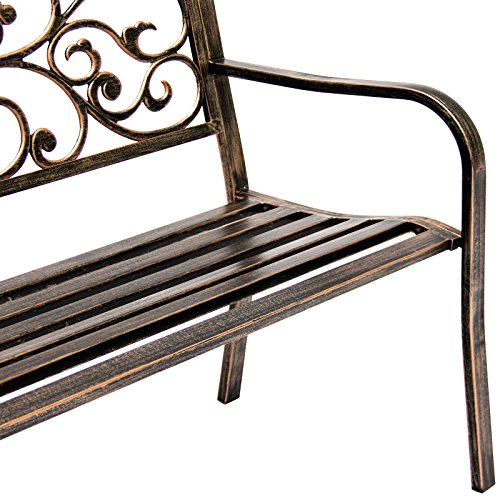 Bronze-Classic-Metal-Patio-Garden-Bench-With-Decorative-Floral-Scroll-Design-0-2