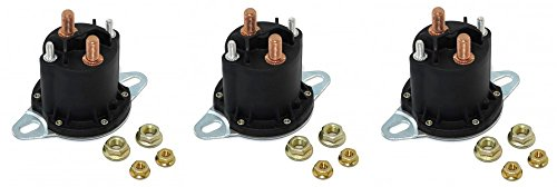 Buyers-Products-1306317-Solenoid-12v-Motor-Relay-Continuous-Replaces-Western-56131k-1-Lot-of-3-0