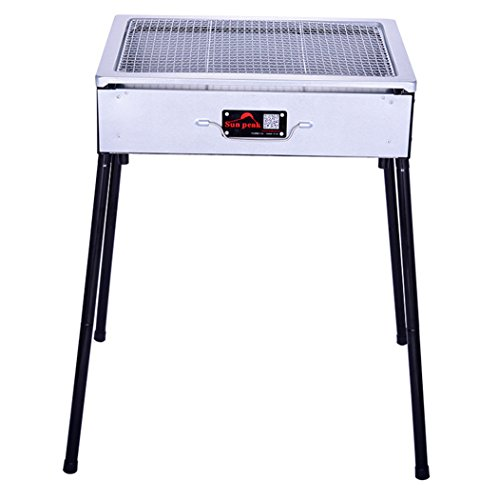 CLODY-Outdoor-BBQ-Portable-Charcoal-Grill-Folding-Household-Barbecue-Equipment-Stainless-Steel-Barbecue-0-1