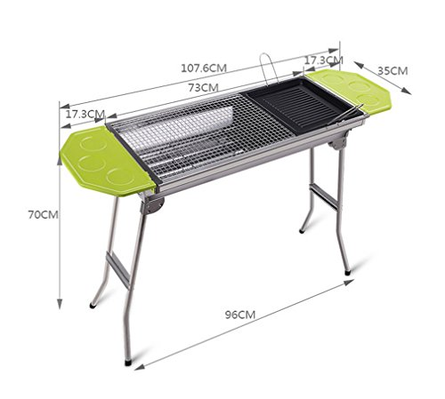 CLODY-Outdoor-Square-Charcoal-Stainless-Steel-Folding-Grill-Portable-Grill-0-0
