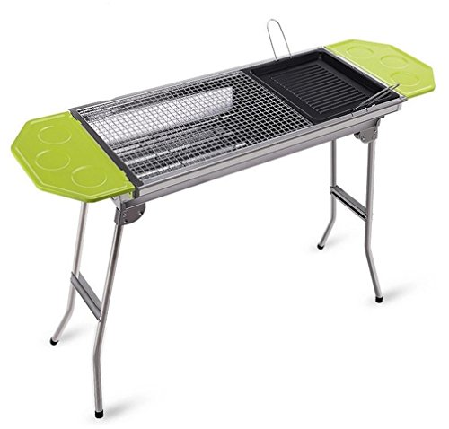 CLODY-Outdoor-Square-Charcoal-Stainless-Steel-Folding-Grill-Portable-Grill-0