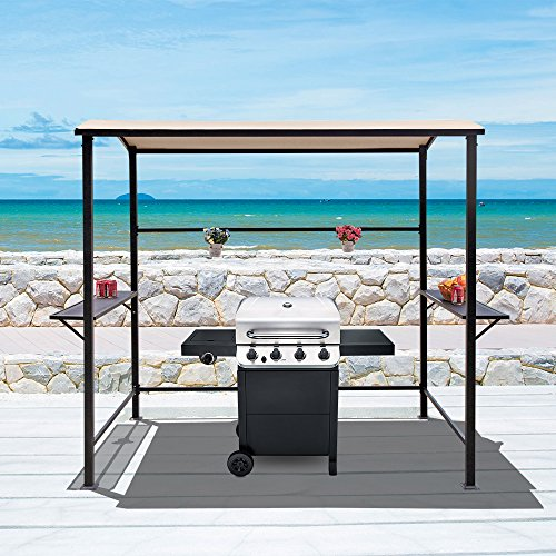 COBANA-Grill-Gazebo-8by-46-Outdoor-Canopy-with-Single-Tier-Top–0-0