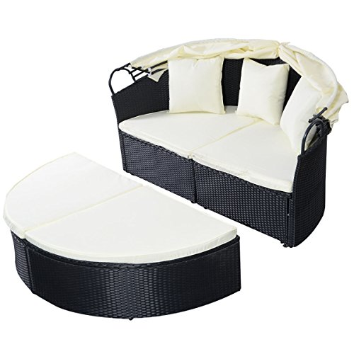 COSTWAY-NEW-Outdoor-Patio-Sofa-Furniture-Round-Retractable-Canopy-Daybed-Black-Wicker-Rattan-0-2