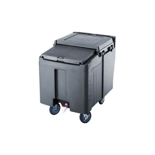 Cambro-2FX2SW1B-Sliding-Lid-Polyethylene-Standard-Height-Ice-Caddy-29-14-Inch-Granite-Gray-0