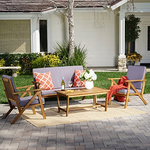 Christopher-Knight-Home-300251-Manarola-4-Piece-Outdoor-Acacia-Wood-Chat-Set-in-Teak-FinishGrey-0