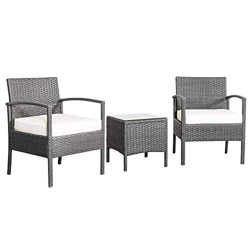 Cirocco-3-Pcs-Wicker-Rattan-Arm-Chair-Sofa-Seat-wCoffee-Table-Cushioned–Outdoor-Seating-Set-Heavy-Duty-300lbs-All-Weather-UV-Water-Resistant-for-Porch-Poolside-Garden-Backyard-Balcony-Hotel-0