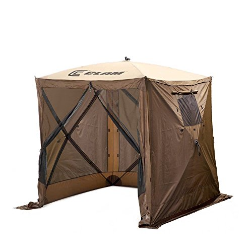 Clam-Quick-Set-Traveler-Portable-Camping-Outdoor-Gazebo-Canopy-3-Wind-Panels-0
