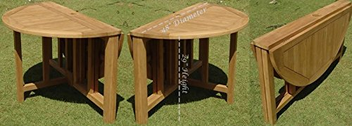 Clearance-5-Pc-Grade-A-Teak-Wood-Dining-Set-48-Round-Butterfly-Table-And-4-Osborne-Arm-Chairs-WFDSOS3-0-1