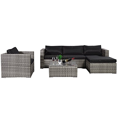 Cloud-Mountain-No-Tax-6-Piece-Outdoor-Patio-Summer-Rattan-Wicker-Sectional-Conversation-Sofa-Set-Wicker-Furniture-Set-wTable-5-Sofa-Chairs-Mix-Gray-Rattan-Black-Cushion-0-0