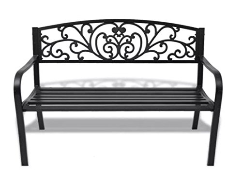 ComfyLeads-Garden-Bench-Made-of-Steel-Frame-and-Cast-Iron-Backrest-0-1