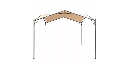Comfyleads-Gazebo-Pavilion-Tent-Canopy-Steel-Beige-13-1-Inches-x-13-1-Inches-0-0